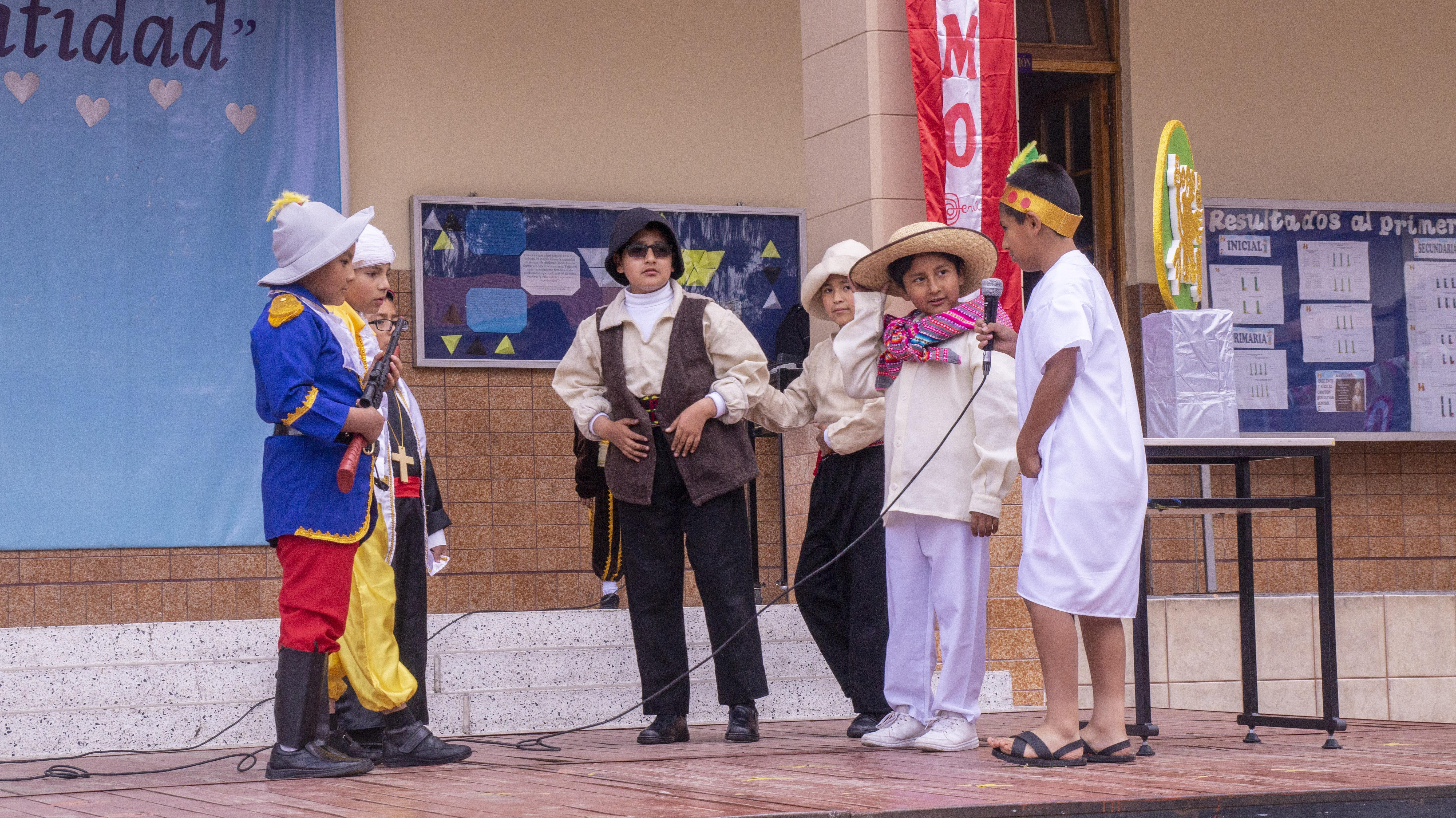 Representación de la fundación de Huancayo